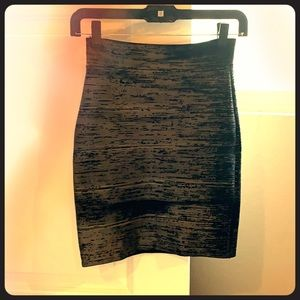 BCBG Maxazria 🖤 Black Metallic Bandage Skirt
